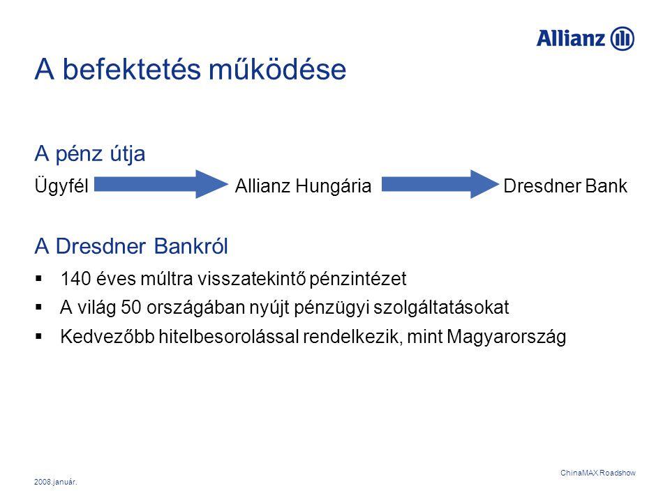 A befektetés működése A pénz útja A Dresdner Bankról