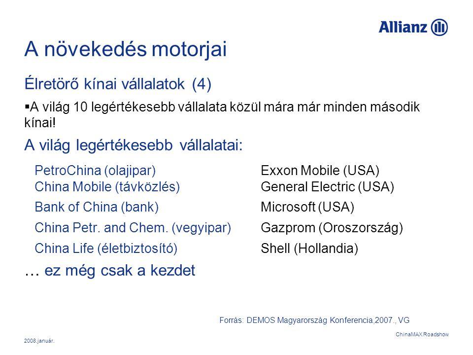 A növekedés motorjai Élretörő kínai vállalatok (4)