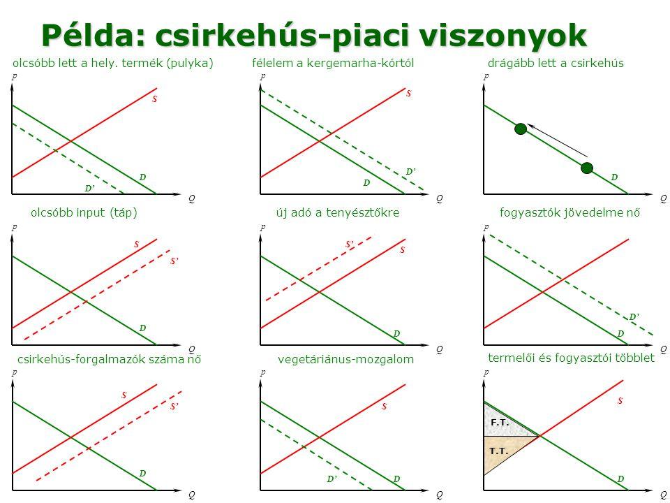 Példa: csirkehús-piaci viszonyok