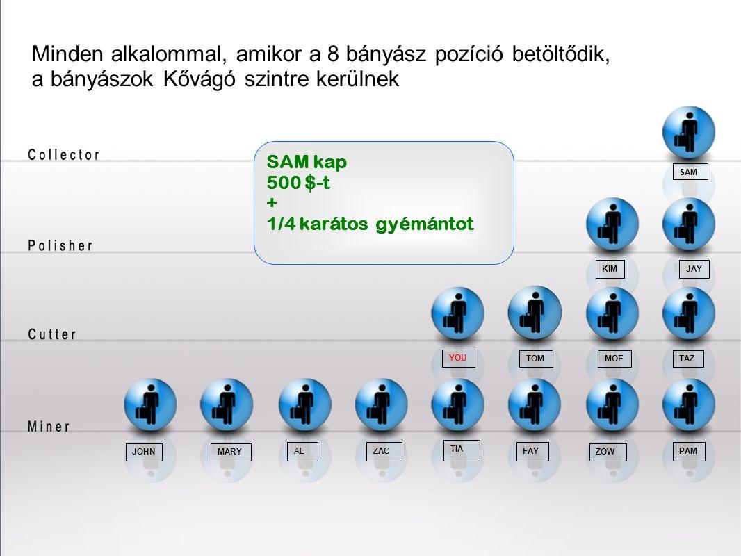 20202020 Minden alkalommal, amikor a 8 bányász pozíció betöltődik, a bányászok Kővágó szintre kerülnek.