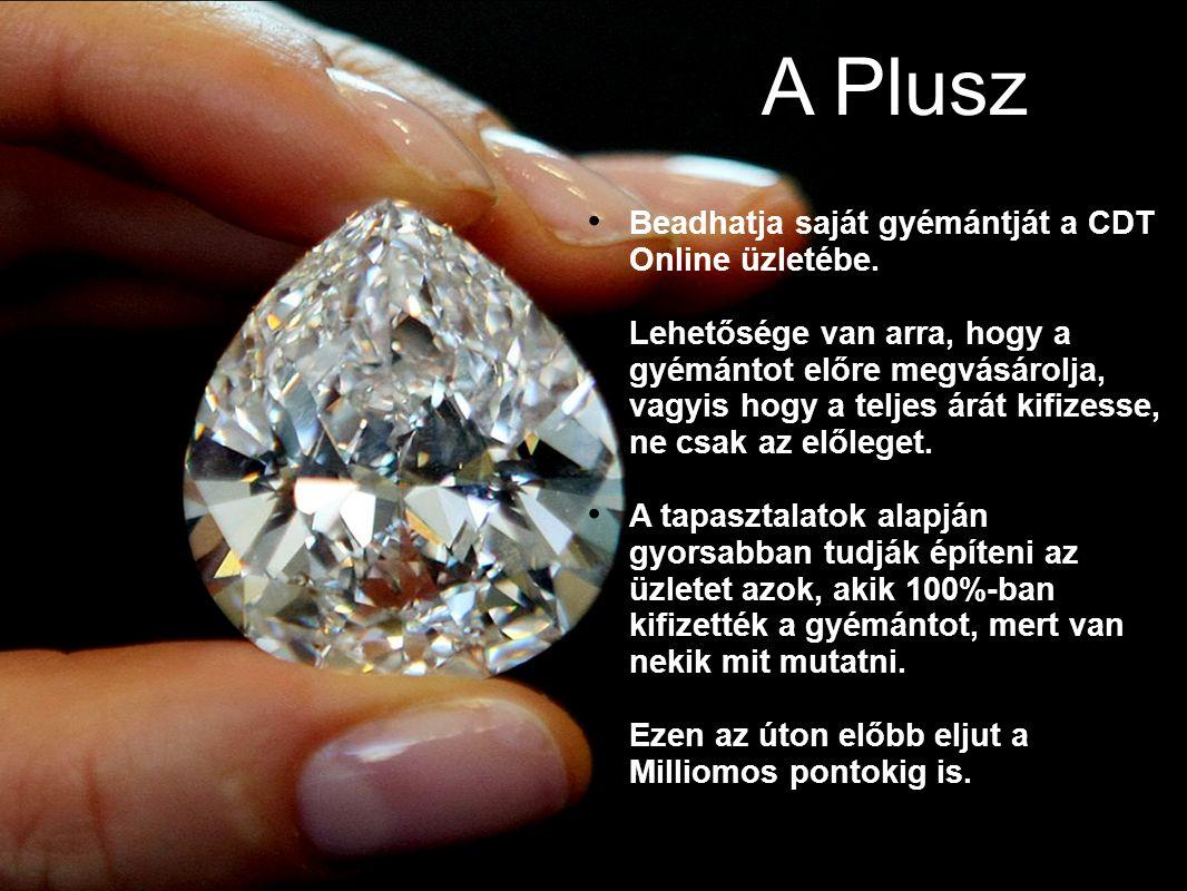 A Plusz 43434343 Beadhatja saját gyémántját a CDT Online üzletébe.