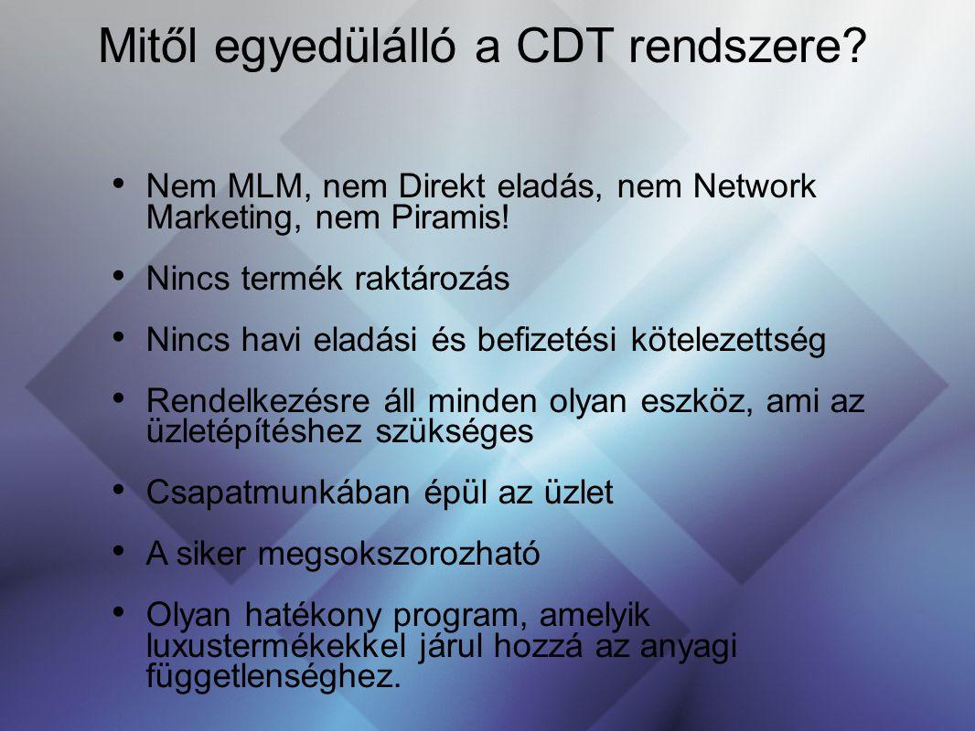 Mitől egyedülálló a CDT rendszere