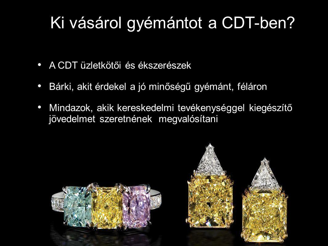 Ki vásárol gyémántot a CDT-ben