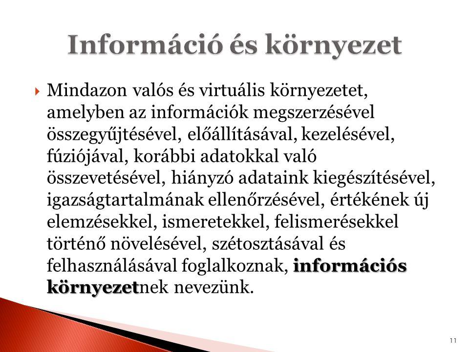 Információ és környezet