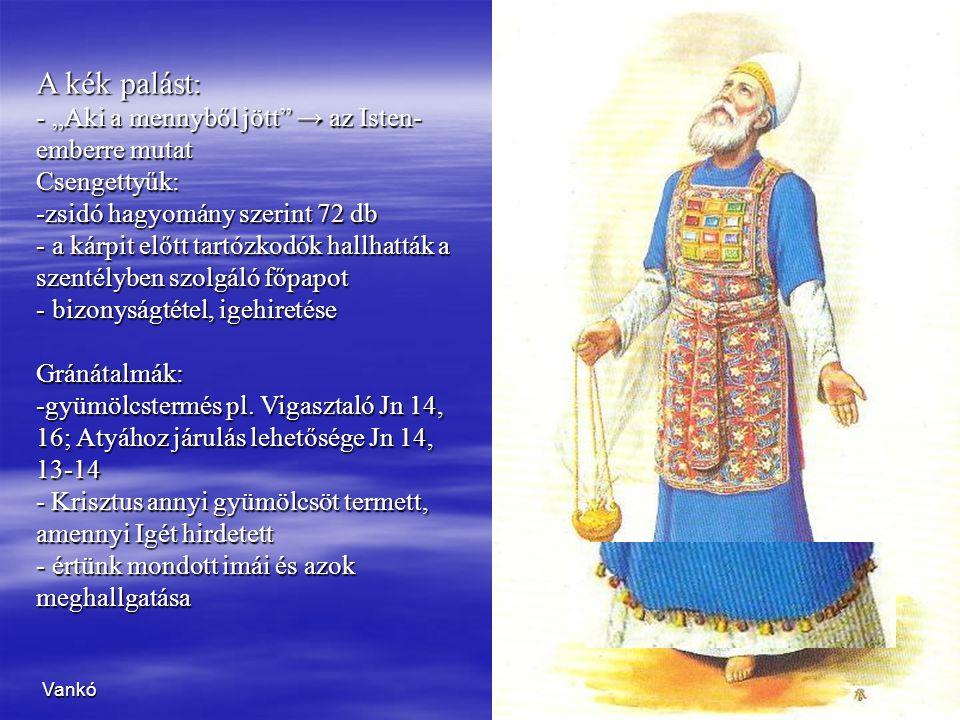 """A kék palást: """"Aki a mennyből jött → az Isten-emberre mutat"""