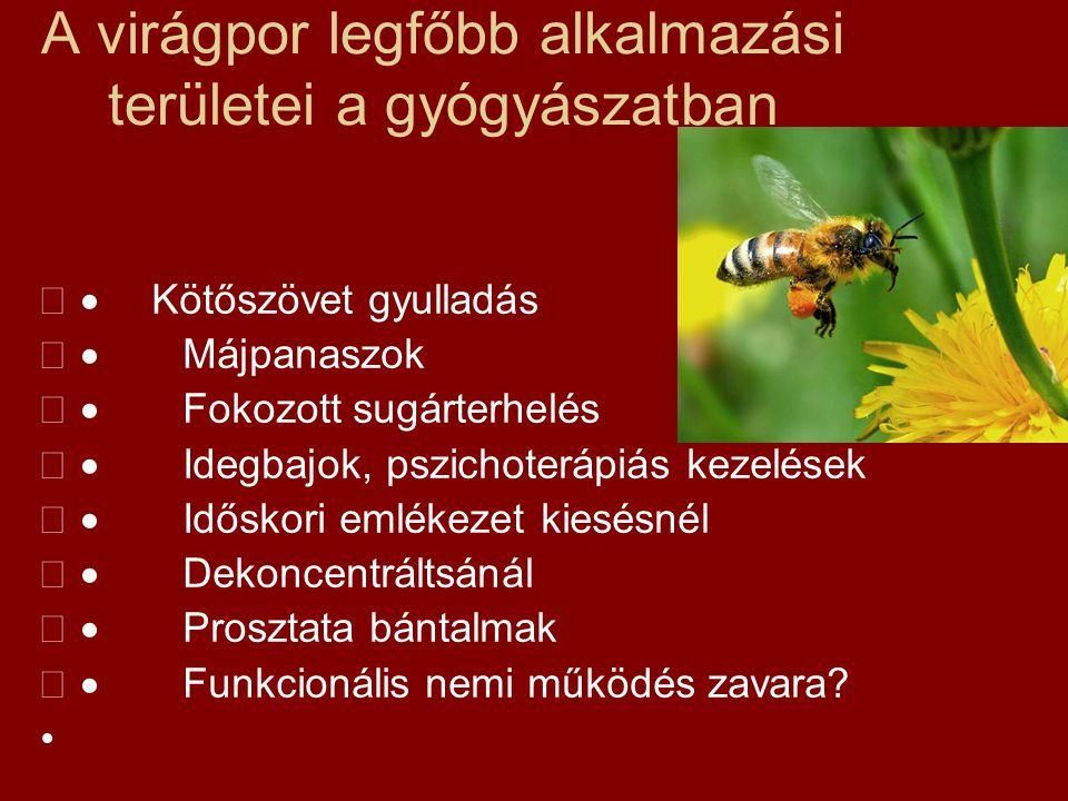 A virágpor legfőbb alkalmazási területei a gyógyászatban