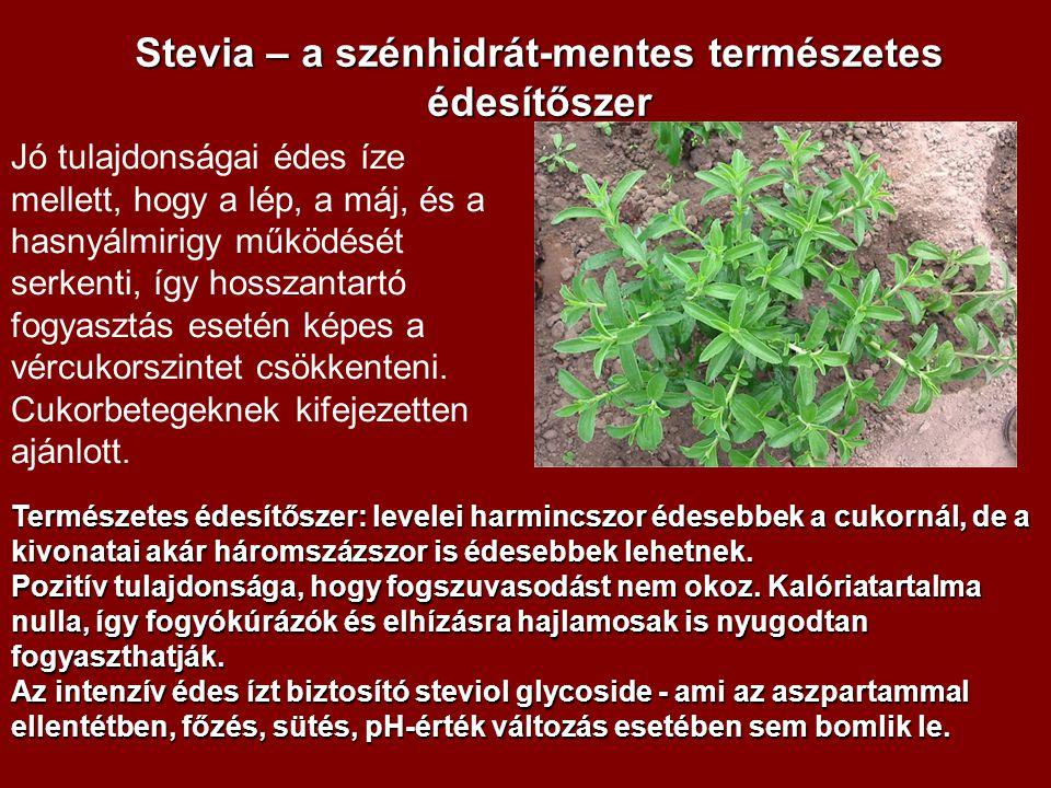 Stevia – a szénhidrát-mentes természetes édesítőszer