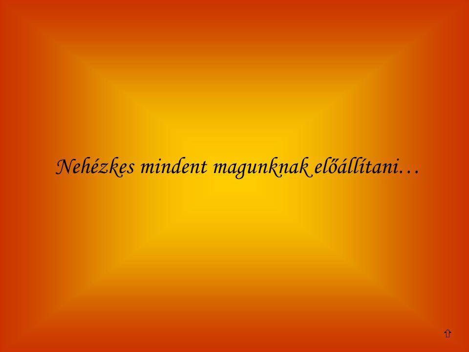 Nehézkes mindent magunknak előállítani…