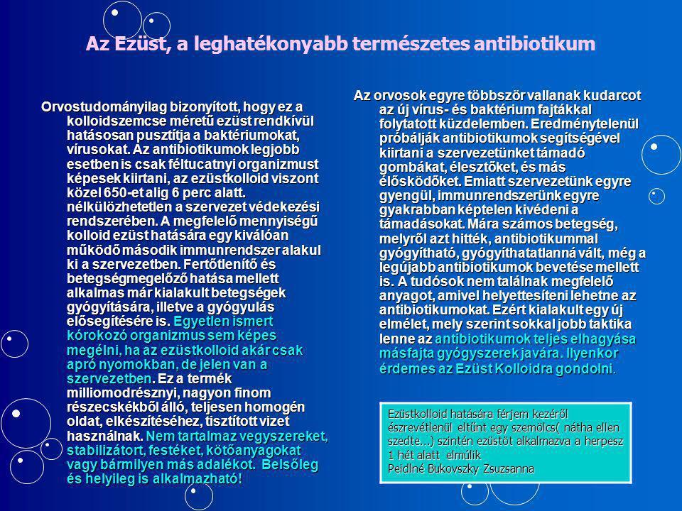 Az Ezüst, a leghatékonyabb természetes antibiotikum
