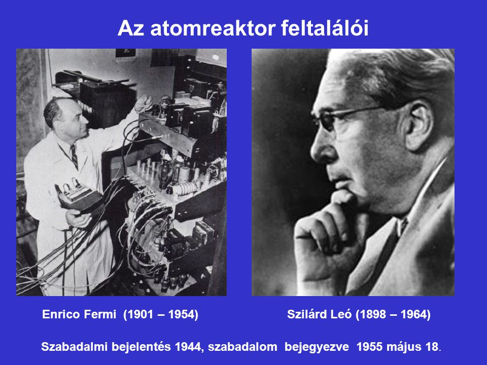 Az atomreaktor feltalálói