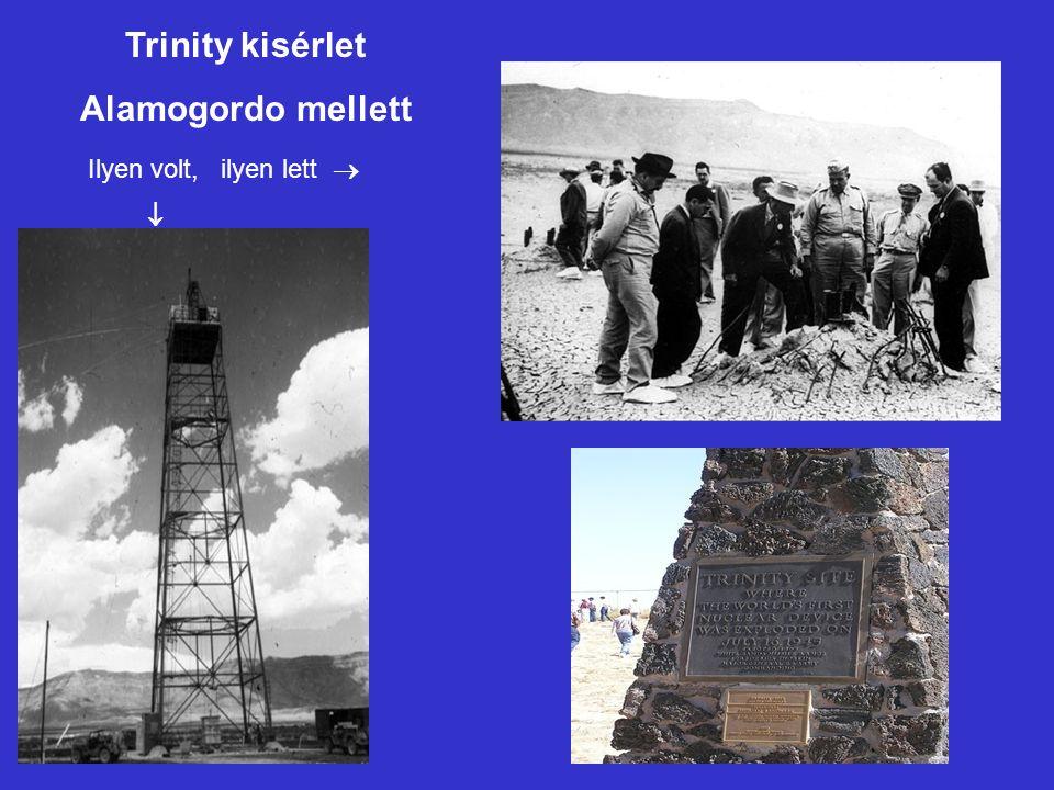 Trinity kisérlet Alamogordo mellett