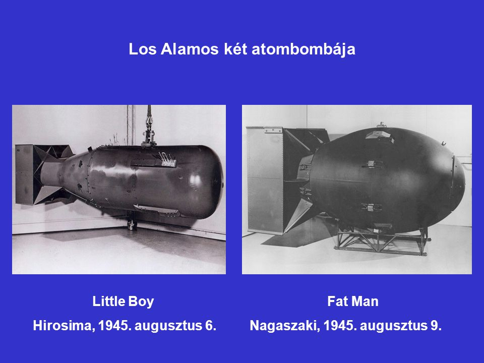 Los Alamos két atombombája