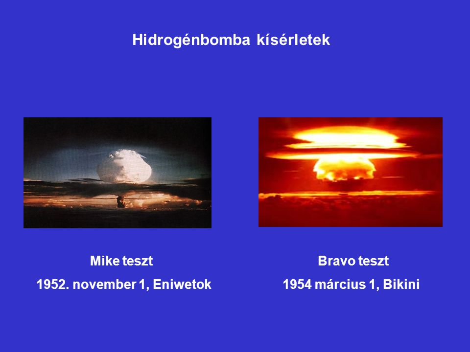 Hidrogénbomba kísérletek