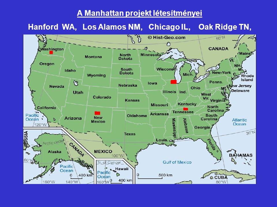 A Manhattan projekt létesítményei