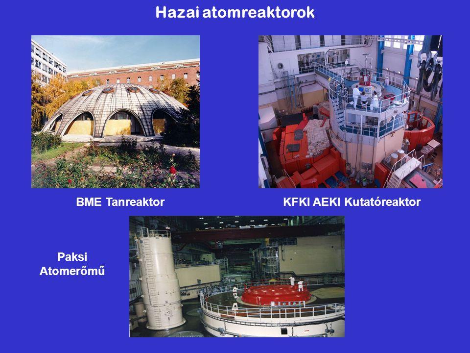 Hazai atomreaktorok BME Tanreaktor KFKI AEKI Kutatóreaktor