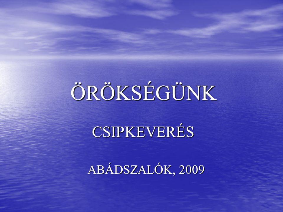 CSIPKEVERÉS ABÁDSZALÓK, 2009