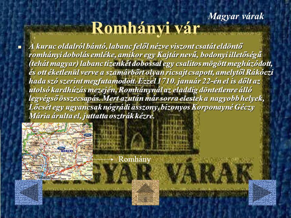 Romhányi vár Magyar várak