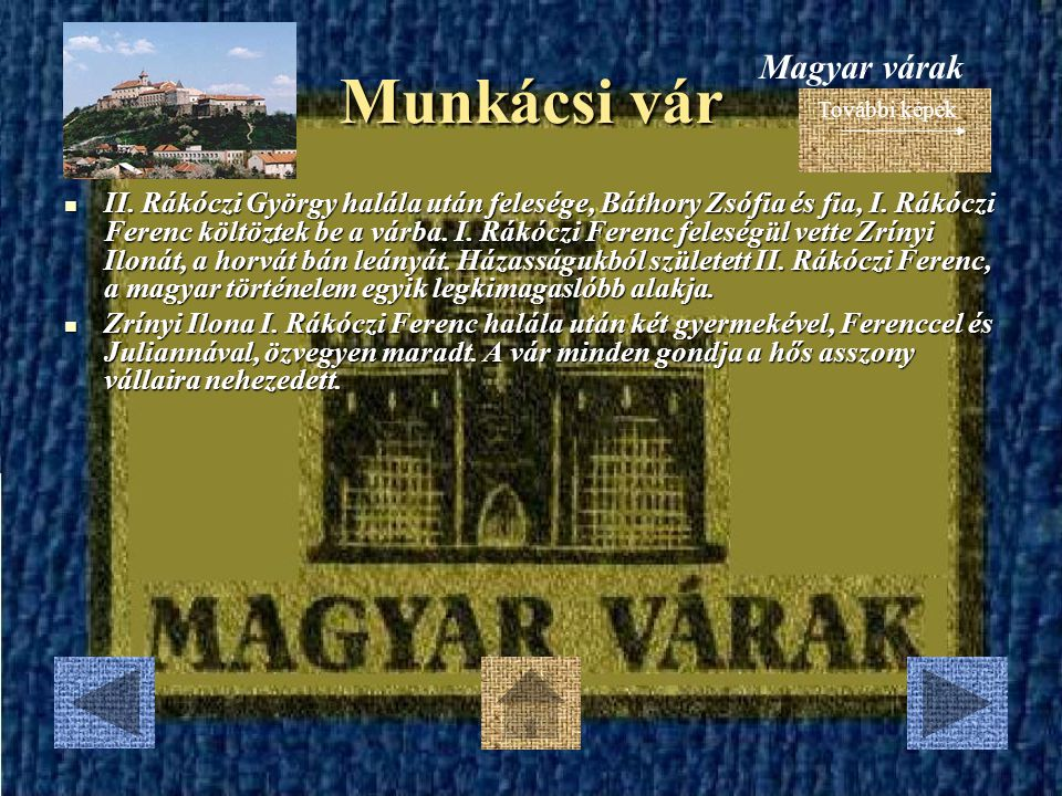 Munkácsi vár Magyar várak