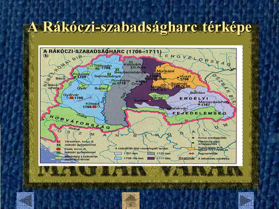 A Rákóczi-szabadságharc térképe