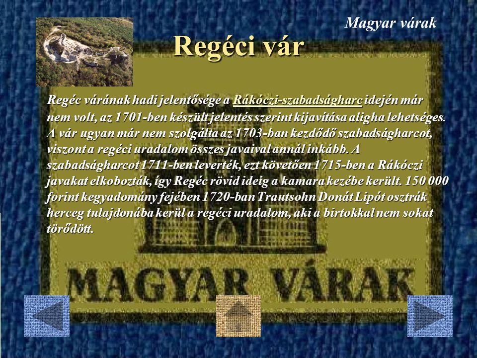 Magyar várak Regéci vár.