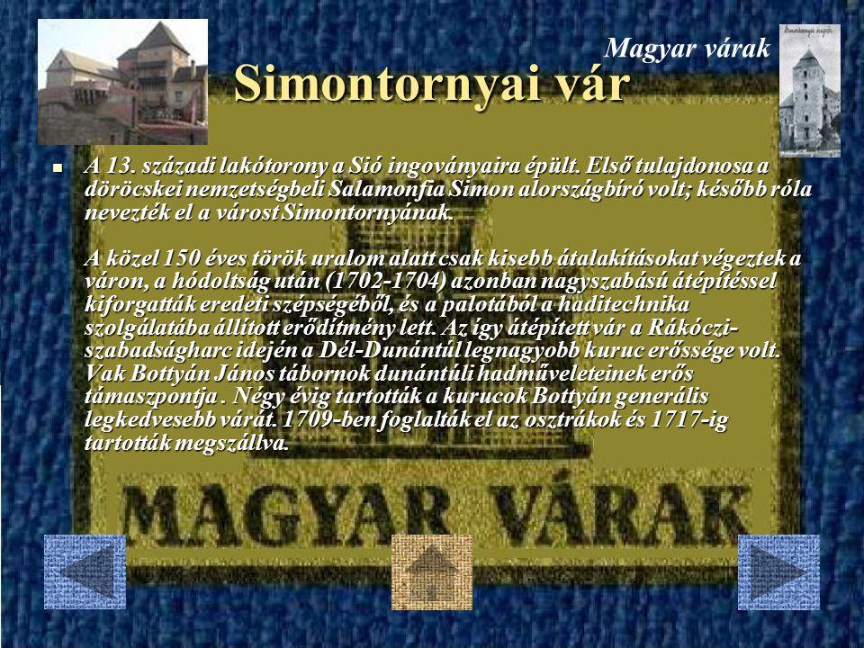 Simontornyai vár Magyar várak
