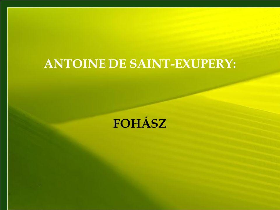 ANTOINE DE SAINT-EXUPERY: