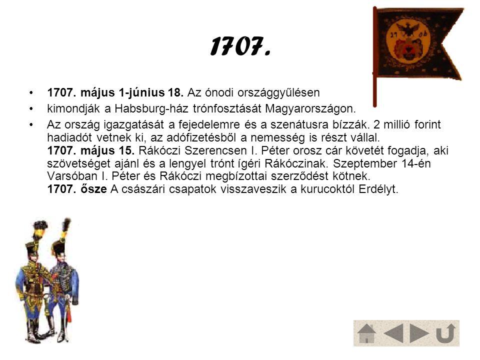 1707. 1707. május 1-június 18. Az ónodi országgyűlésen