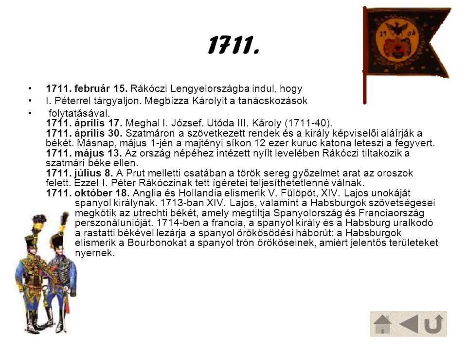 1711. 1711. február 15. Rákóczi Lengyelországba indul, hogy