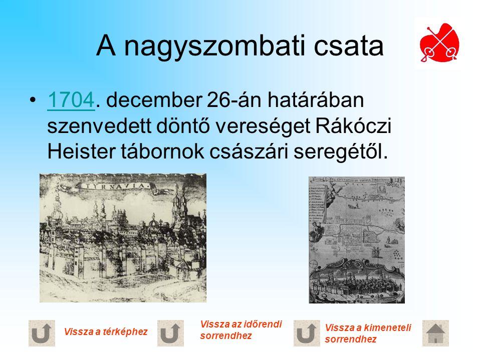 A nagyszombati csata 1704. december 26-án határában szenvedett döntő vereséget Rákóczi Heister tábornok császári seregétől.