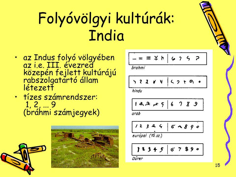 Folyóvölgyi kultúrák: India