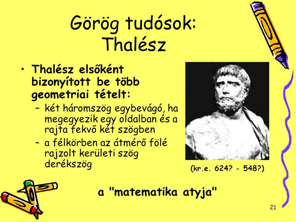 Görög tudósok: Thalész
