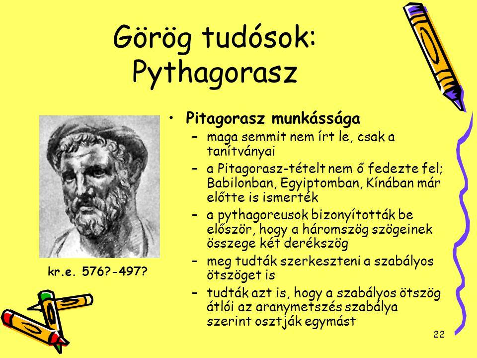 Görög tudósok: Pythagorasz
