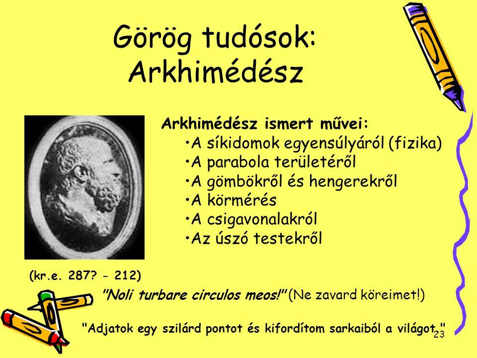 Görög tudósok: Arkhimédész
