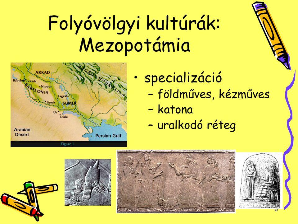 Folyóvölgyi kultúrák: Mezopotámia