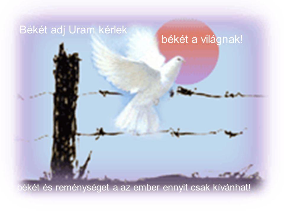 Békét adj Uram kérlek békét a világnak!