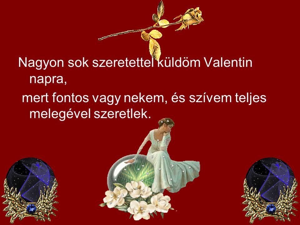 Nagyon sok szeretettel küldöm Valentin napra,