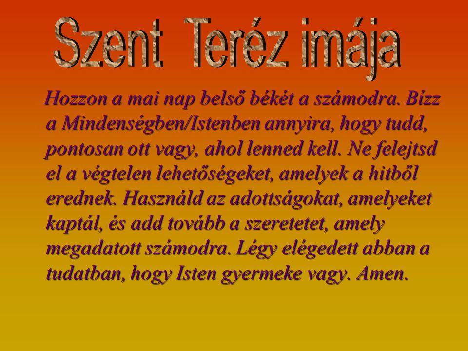 Szent Teréz imája