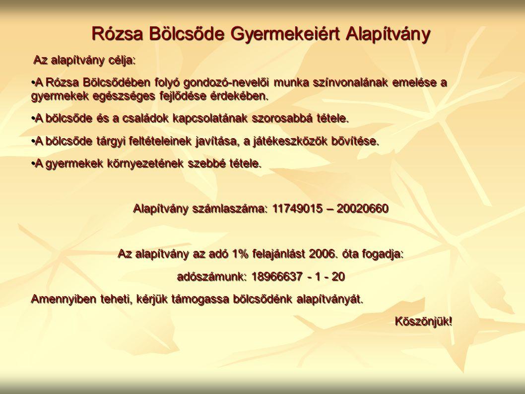 Rózsa Bölcsőde Gyermekeiért Alapítvány