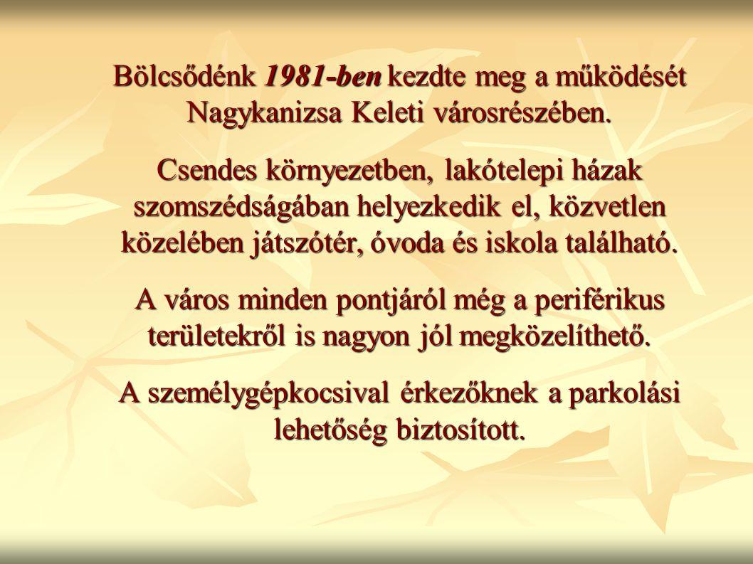 Bölcsődénk 1981-ben kezdte meg a működését Nagykanizsa Keleti városrészében.