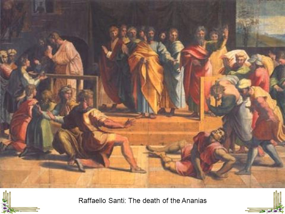 Raffaello Santi: The death of the Ananias