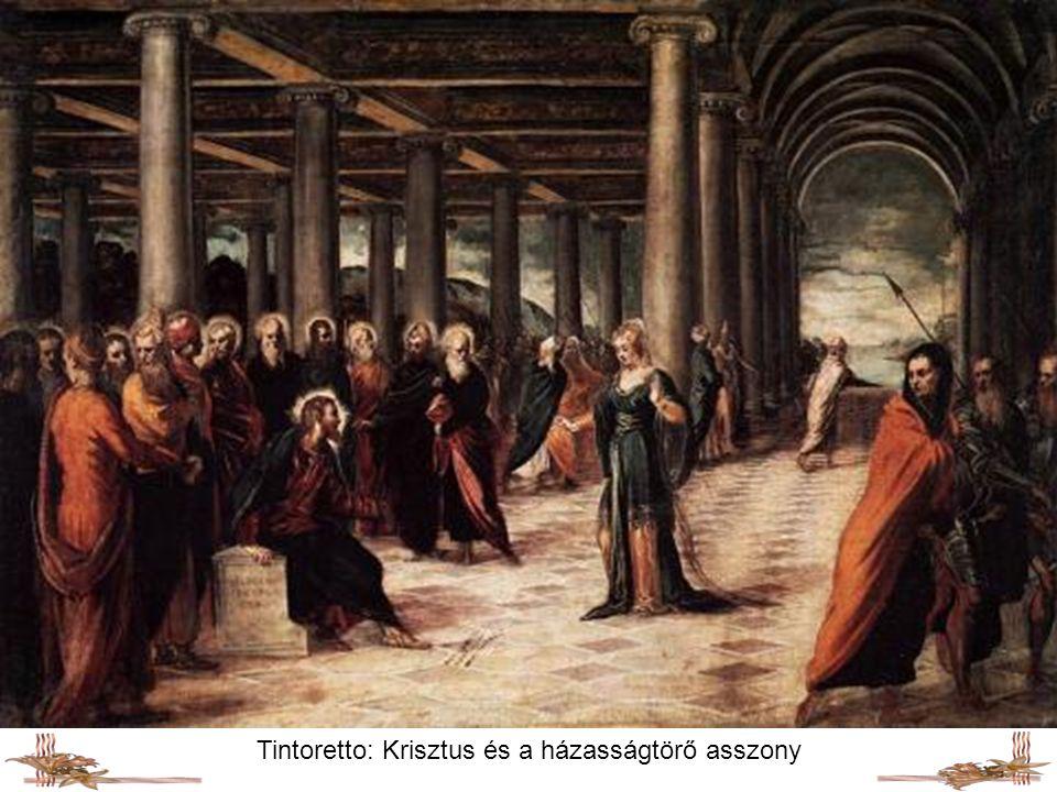 Tintoretto: Krisztus és a házasságtörő asszony