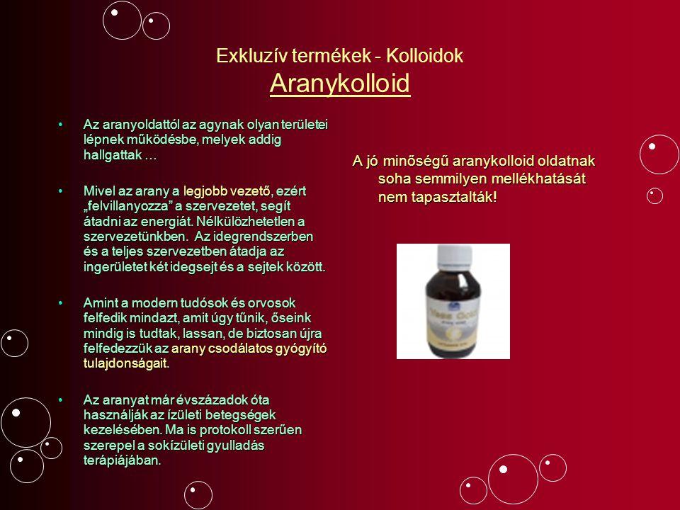 Exkluzív termékek - Kolloidok Aranykolloid