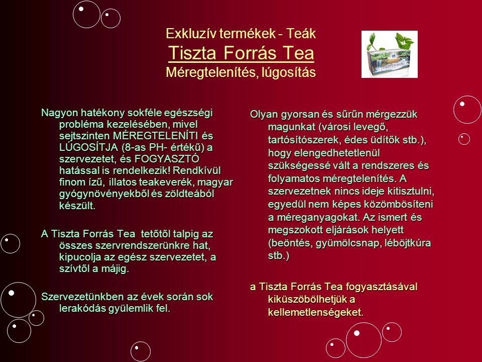 Exkluzív termékek - Teák Tiszta Forrás Tea Méregtelenítés, lúgosítás