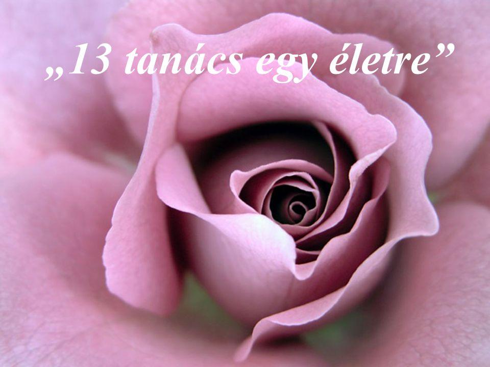 """13 tanács egy életre """"13 tanács egy életre"""