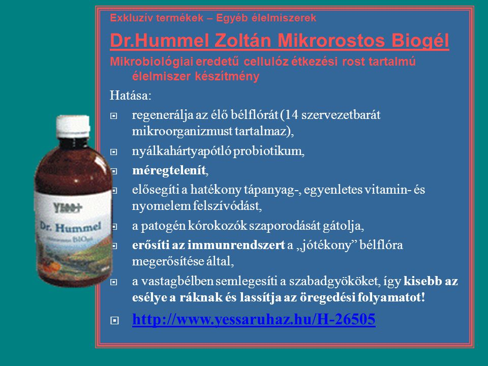 Dr.Hummel Zoltán Mikrorostos Biogél