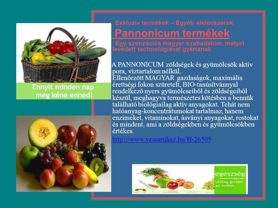 Exkluzív termékek – Egyéb élelmiszerek