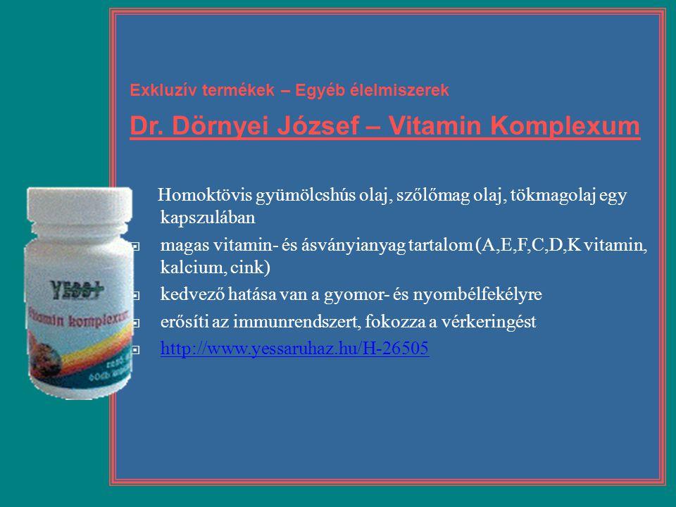 Dr. Dörnyei József – Vitamin Komplexum