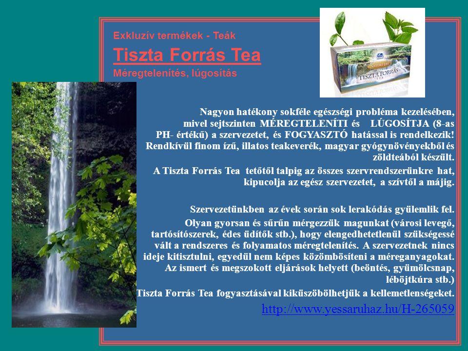 Tiszta Forrás Tea http://www.yessaruhaz.hu/H-265059