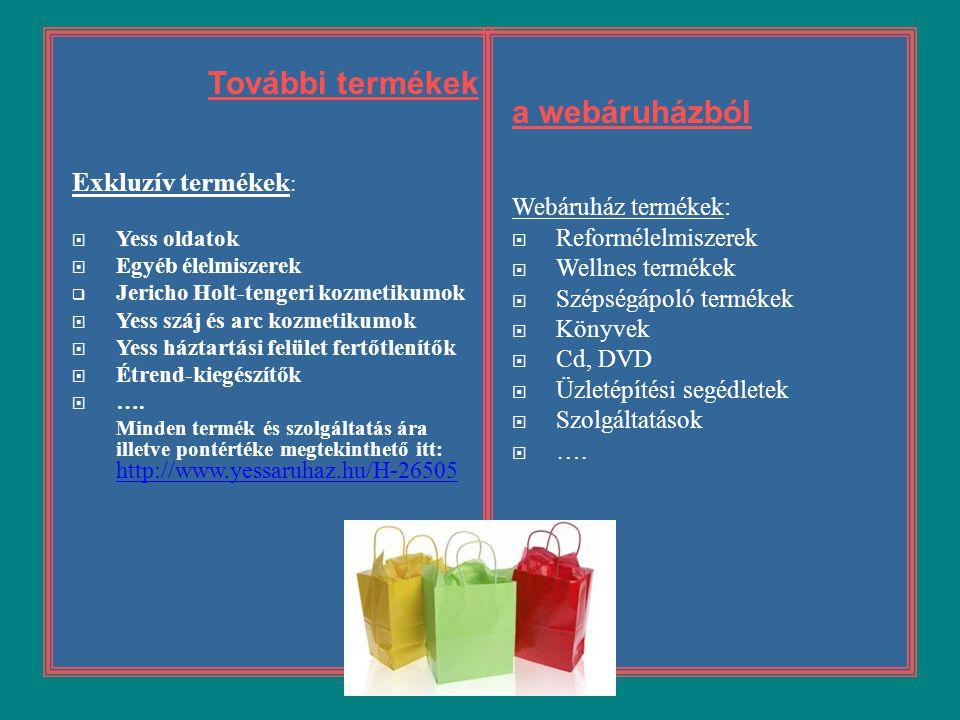 További termékek a webáruházból Exkluzív termékek: Webáruház termékek: