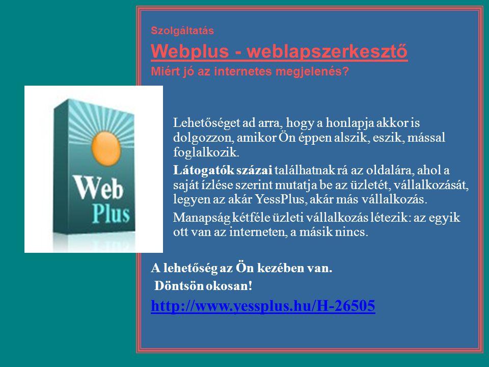 Webplus - weblapszerkesztő